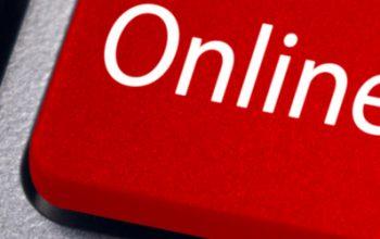 Online Learning key on laptop